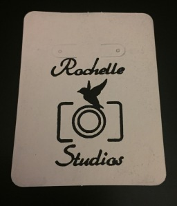 Rochelle Studios Stamp - Earring Card Back